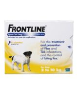 Frontline Spot On Small Dog and Puppy Flea Treatment (2-10kg)
